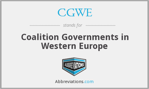 What does CGWE stand for?
