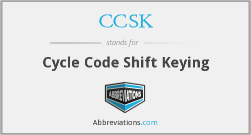 CCSK - Cycle Code Shift Keying