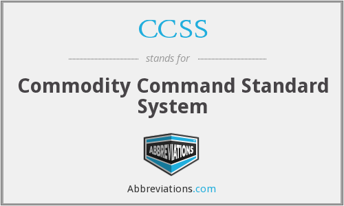 What does CCSS stand for?