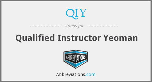 QIY - Qualified Instructor Yeoman