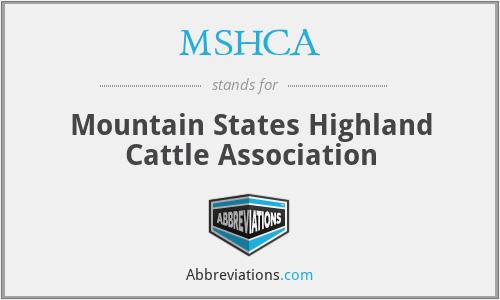 MSHCA - Mountain States Highland Cattle Association