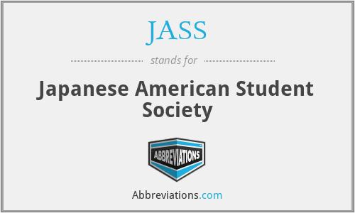 JASS - Japanese American Student Society