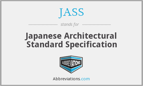 JASS - Japanese Architectural Standard Specification