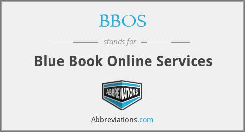 BBOS - Blue Book Online Services