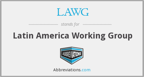 What does LAWG stand for?