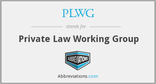 What does PLWG stand for?