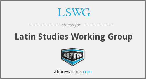 What does LSWG stand for?