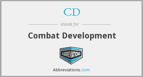 CD - Combat Development