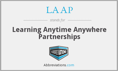LAAP - Learning Anytime Anywhere Partnerships