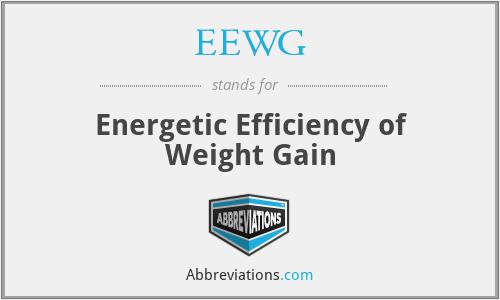 EEWG - Energetic Efficiency of Weight Gain