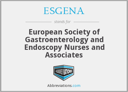 What does ESGENA stand for?