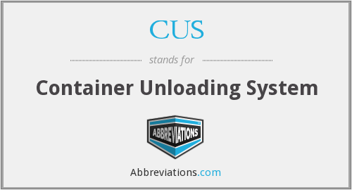 CUS - Container Unloading System