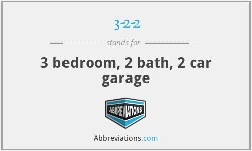 3-2-2 - 3 bedroom, 2 bath, 2 car garage
