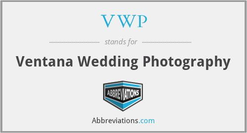 VWP - Ventana Wedding Photography
