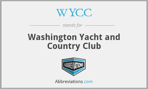WYCC - Washington Yacht and Country Club