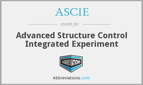 What does ASCIE stand for?