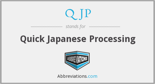 What does QJP stand for?