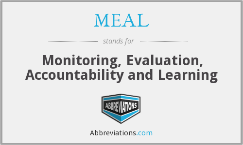 MEAL - Monitoring, Evaluation, Accountability and Learning