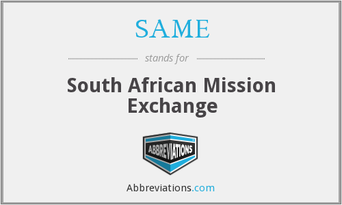 SAME - South African Mission Exchange