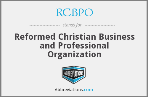 What does RCBPO stand for?