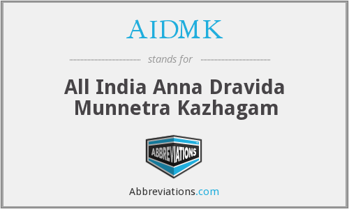 What does AIDMK stand for?