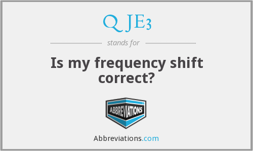 QJE3 - Is my frequency shift correct?