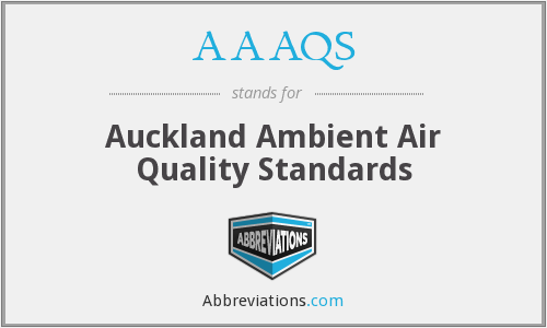 AAAQS - Auckland Ambient Air Quality Standards