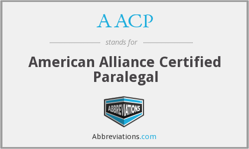 AACP - American Alliance Certified Paralegal