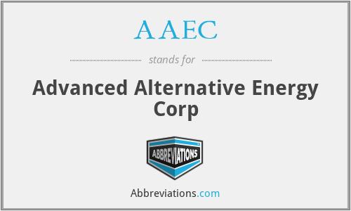 AAEC - Advanced Alternative Energy Corp