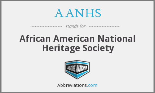 AANHS - African American National Heritage Society