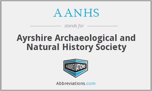 AANHS - Ayrshire Archaeological and Natural History Society