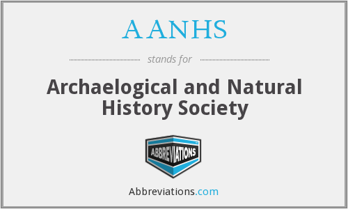 AANHS - Archaelogical and Natural History Society