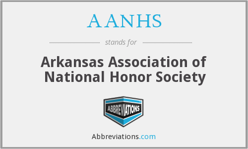 AANHS - Arkansas Association of National Honor Society