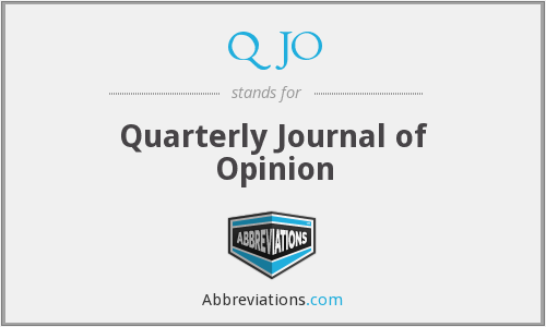 What does QJO stand for?