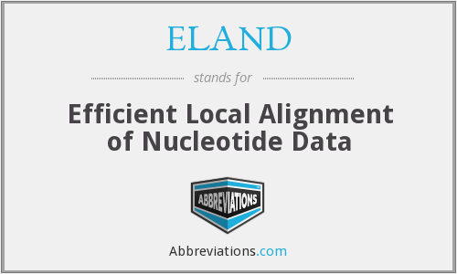 ELAND - Efficient Local Alignment of Nucleotide Data