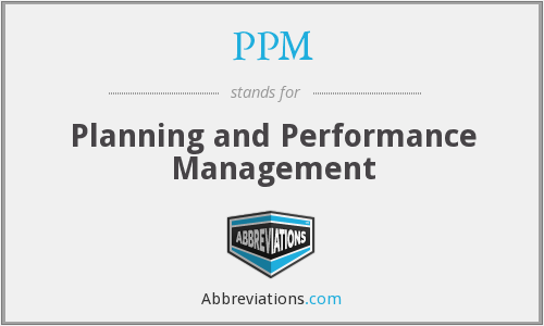 PPM - Planning and Performance Management
