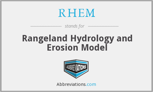 RHEM - Rangeland Hydrology and Erosion Model