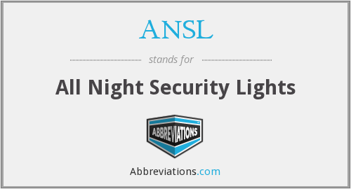 ANSL - All Night Security Lights