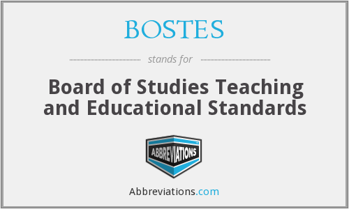 What does BOSTES stand for?