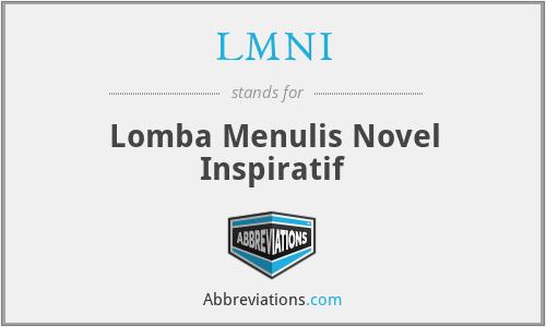 LMNI - Lomba Menulis Novel Inspiratif