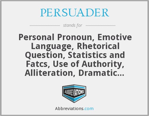 What does PERSUADER stand for?