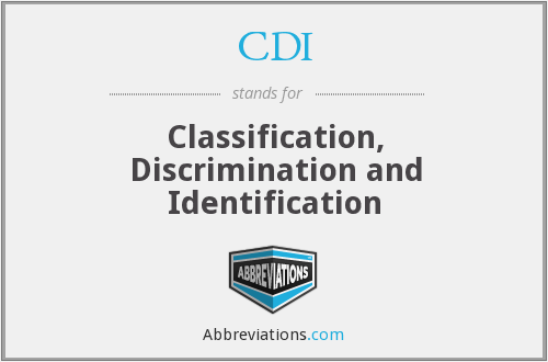 CDI - Classification, Discrimination and Identification