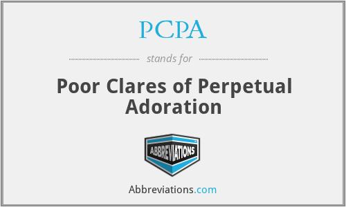 PCPA - Poor Clares of Perpetual Adoration