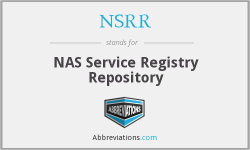 What does NSRR stand for?