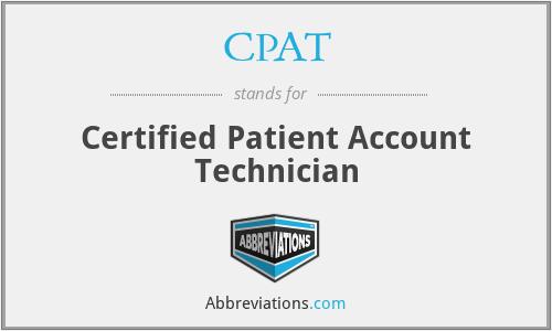 CPAT - Certified Patient Account Technician