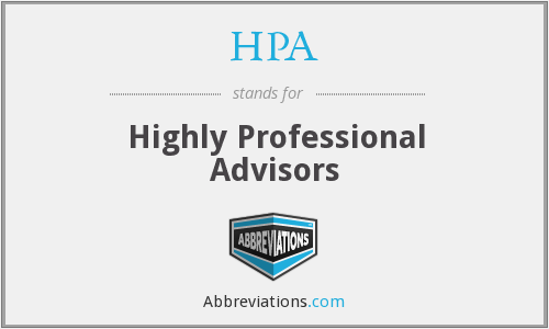HPA - Highly Professional Advisors