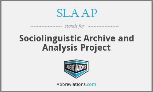 What does SLAAP stand for?