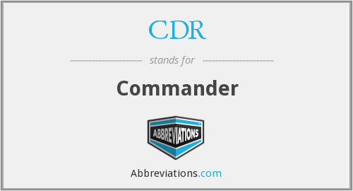 What does CDR stand for?