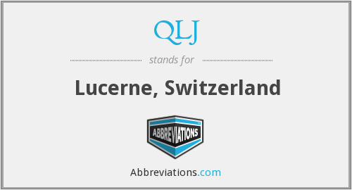 What does QLJ stand for?