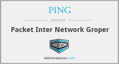 What does PING stand for?